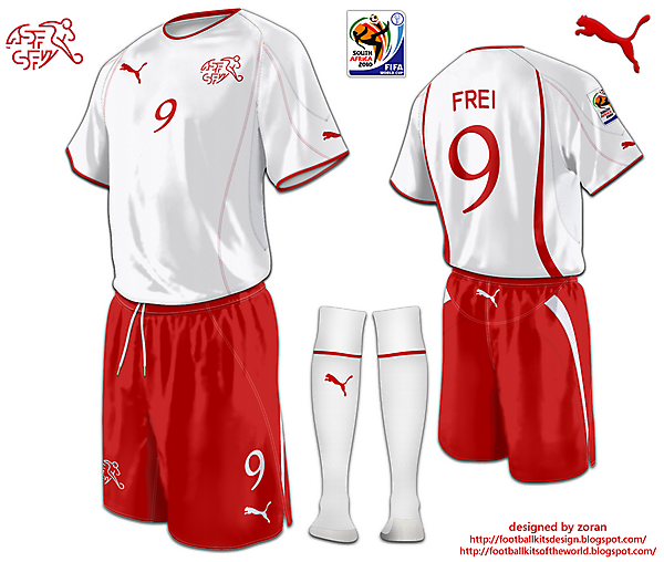 Switzerland World Cup 2010 fantasy away
