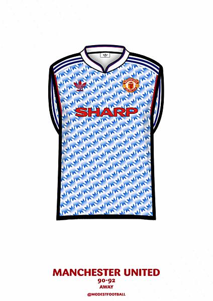 United away shirt 90-92