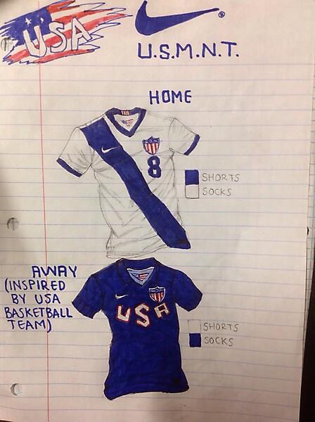 USA Home and away kits concept(2016)