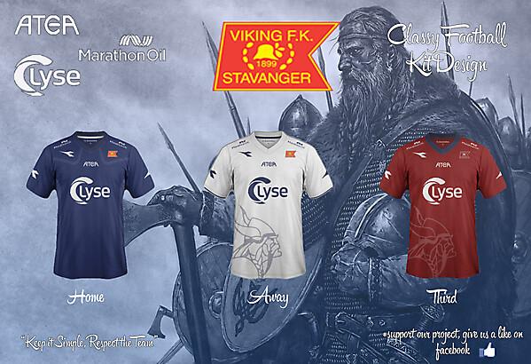 Viking FK Home, Away and Third Fantasy Kit 14/15