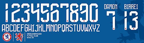 Boro Futsal Font v03