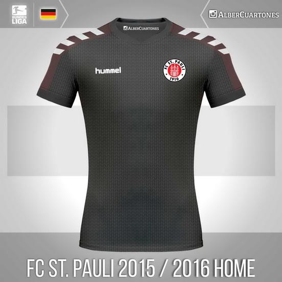 FC St. Pauli 2015 / 2016 Home Shirt