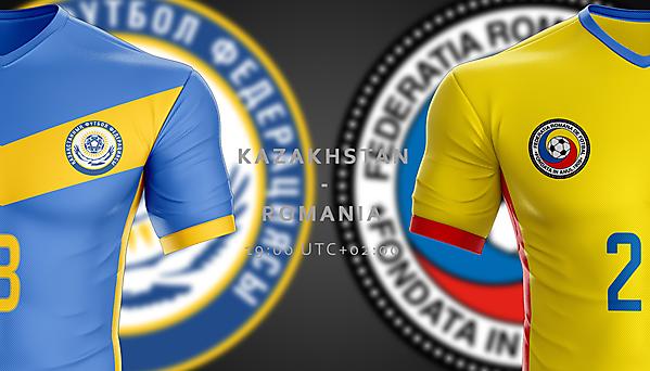 Kazakhstan - Romania// Match poster