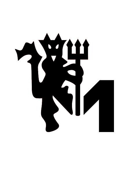 Manchester United update on their iconic devil logo , alternative logo concept .