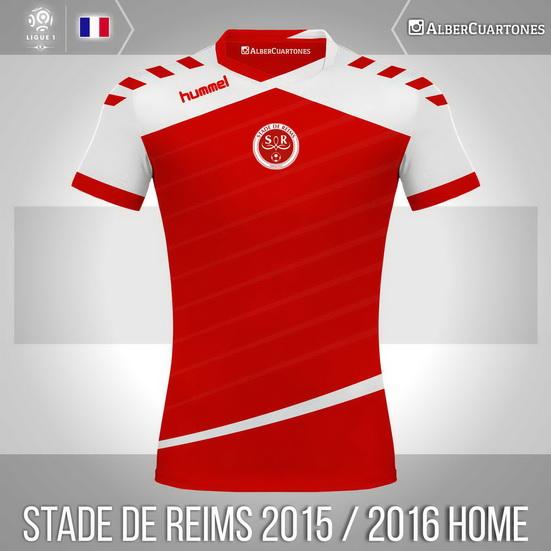 Stade de Reims 2015 / 2016 Home Shirt