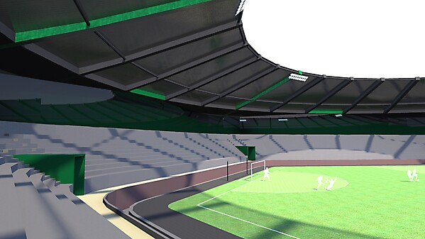 Stadium for Three Sided Football