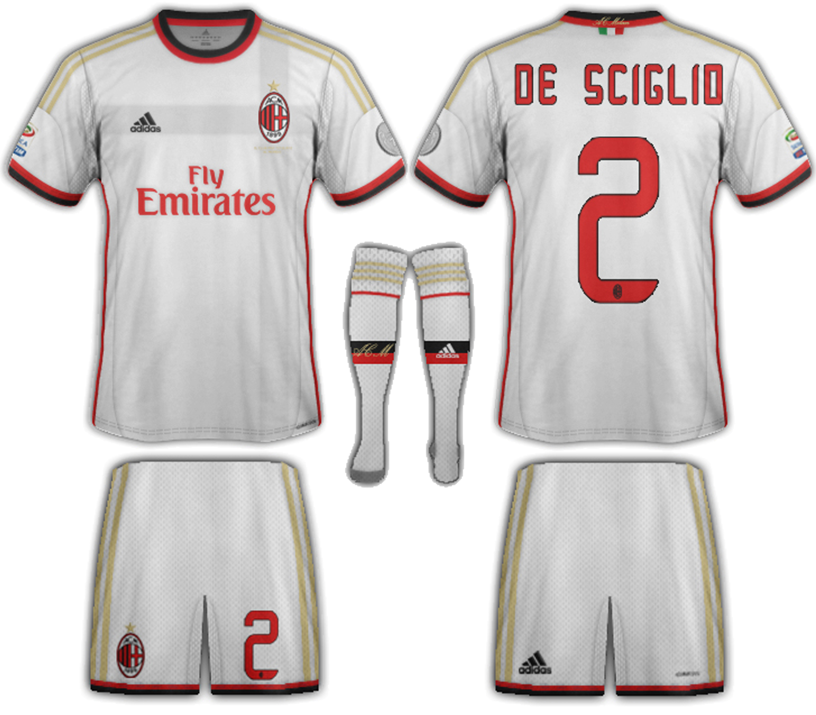 low priced f5909 25d58 AC Milan Fantasy away 2013-14
