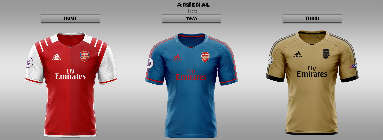 0242593a14b Arsenal -- Home Away Third 2019 2020