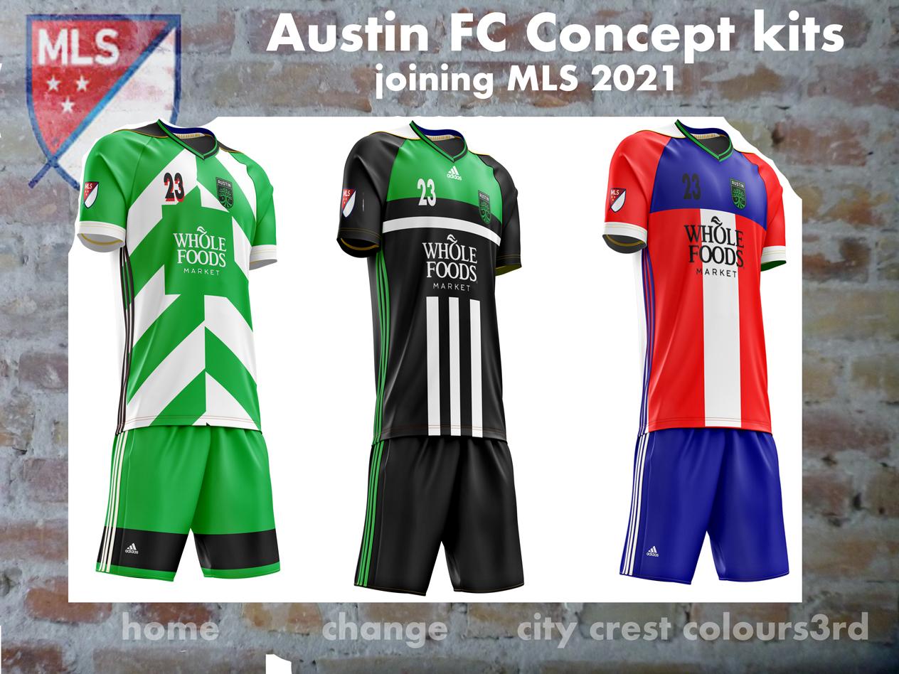 half off b4dd5 af0f9 Austin FC Concept kits