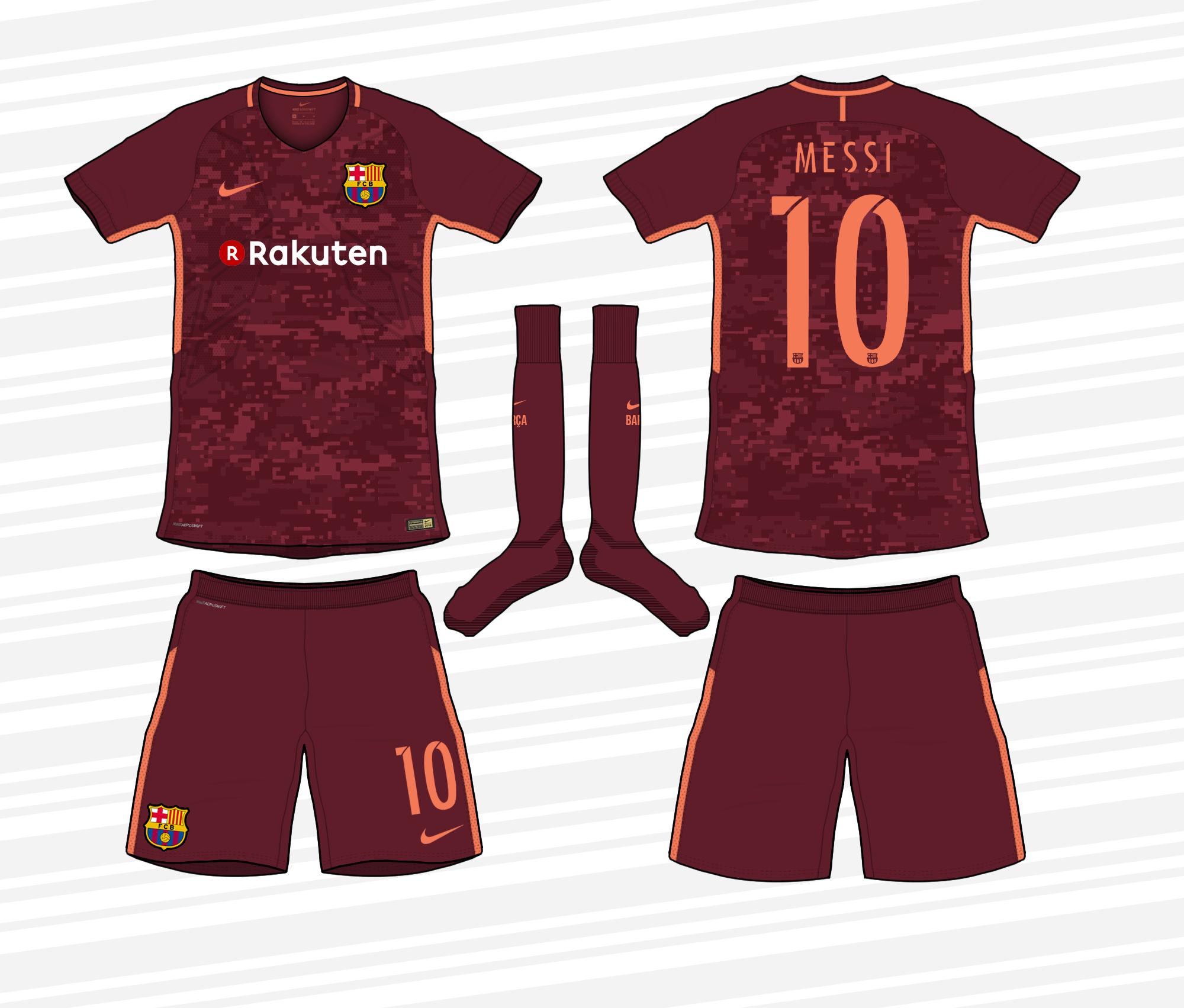 get cheap e9ffd d8bfb Barcelona 2017/18 Third Kit