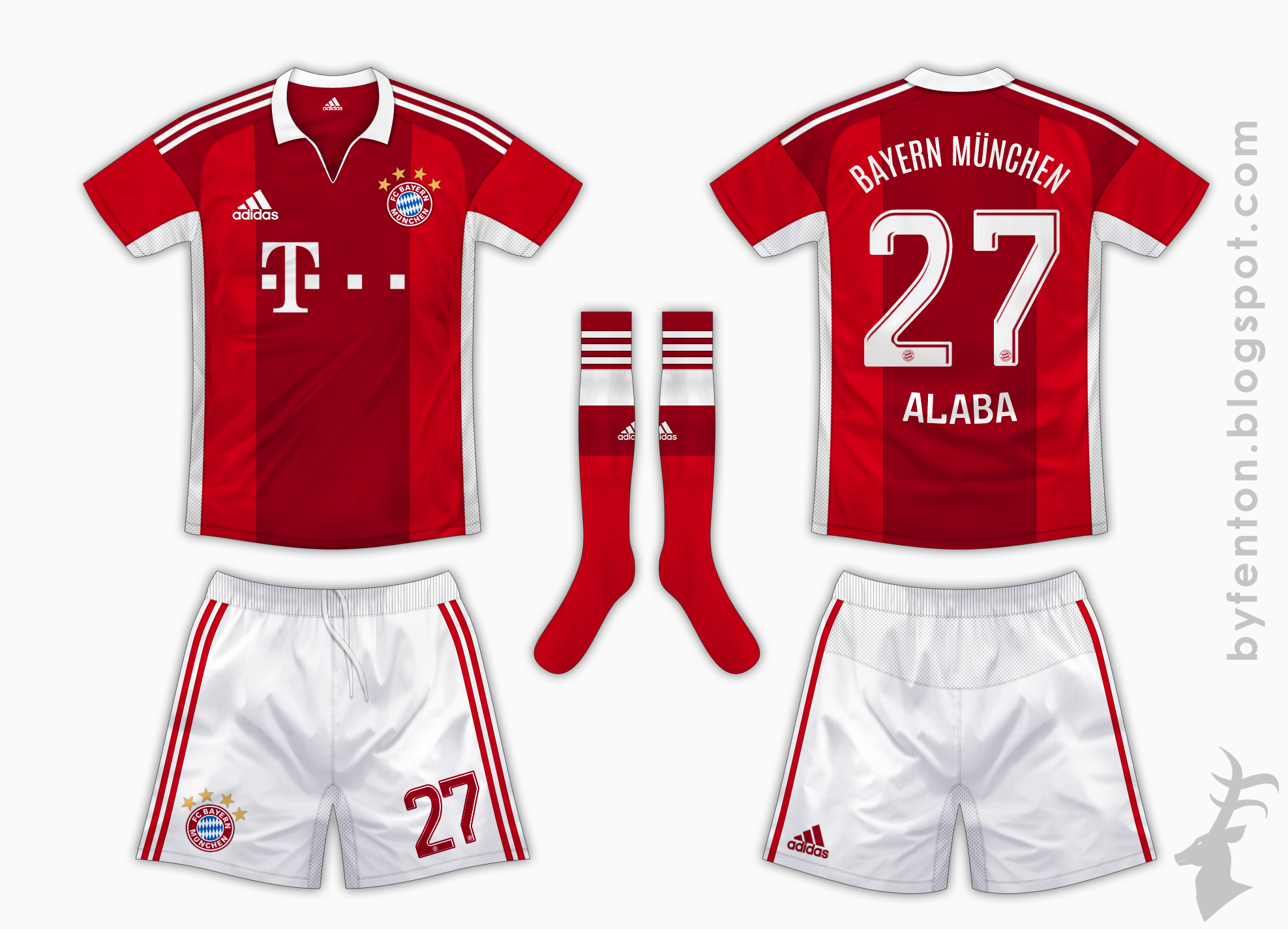 sports shoes 34bd6 12b89 Bayern Munich Home Kit - Adidas