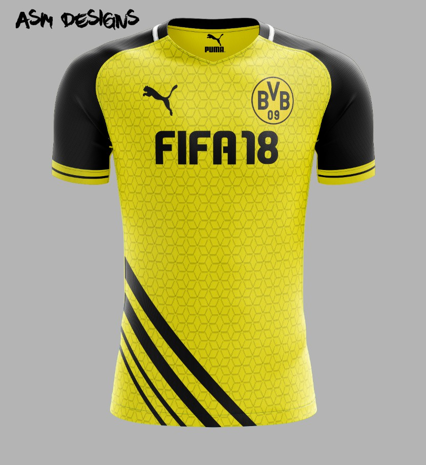 separation shoes e77e5 428af Borussia Dortmund Puma 2018 Home Kit