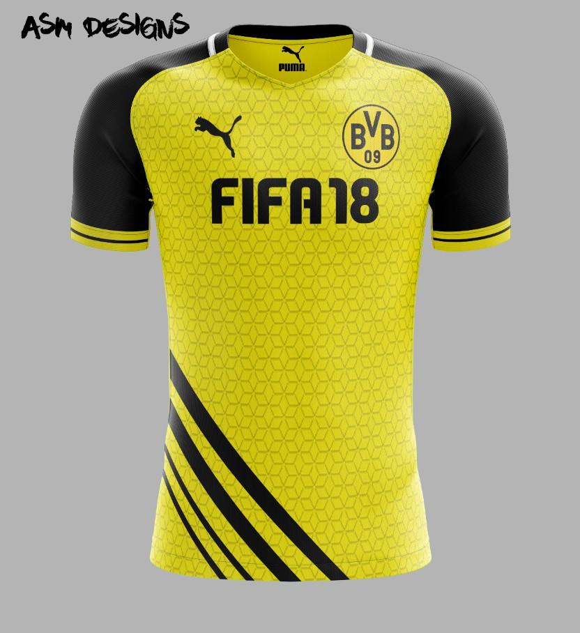 ee4d058e0 Borussia Dortmund Puma 2018 Home Kit