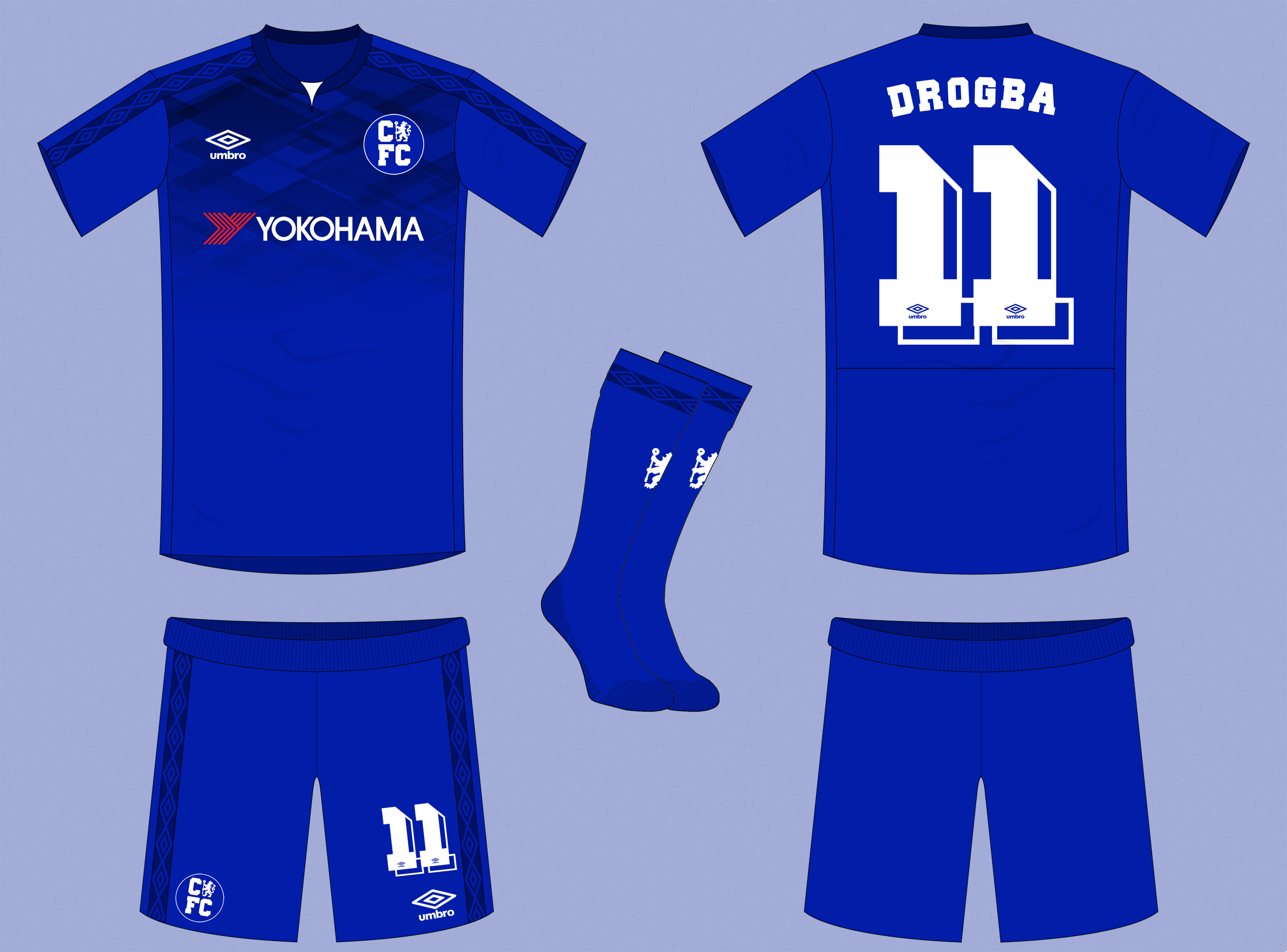 low priced 851a6 af50a Chelsea Home Kit by Umbro