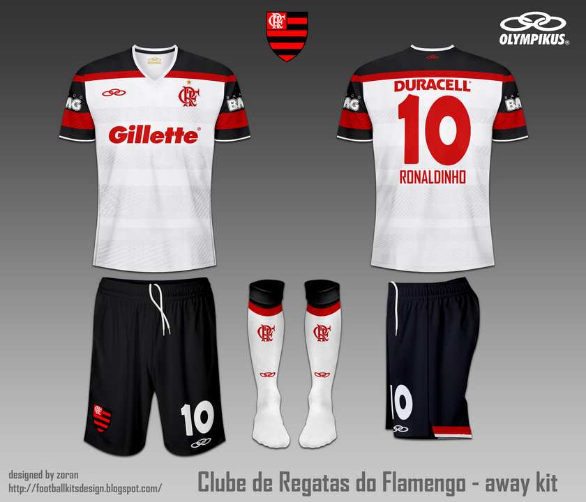 finest selection 226cf f11ae C.R. Flamengo fantasy home and away