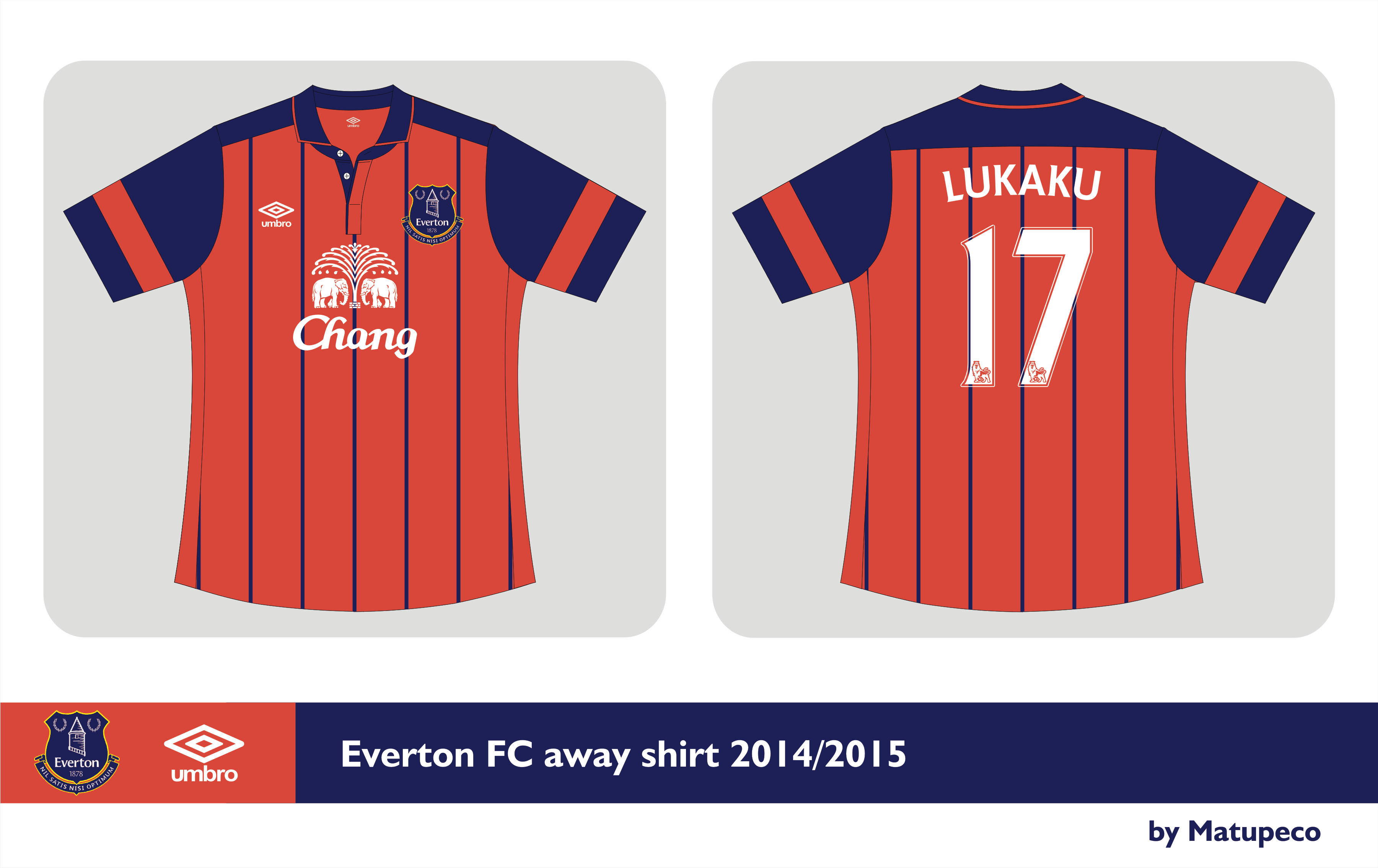finest selection 3d8b0 4c8fc Everton FC away kit Umbro 2014/2015 - Prediction