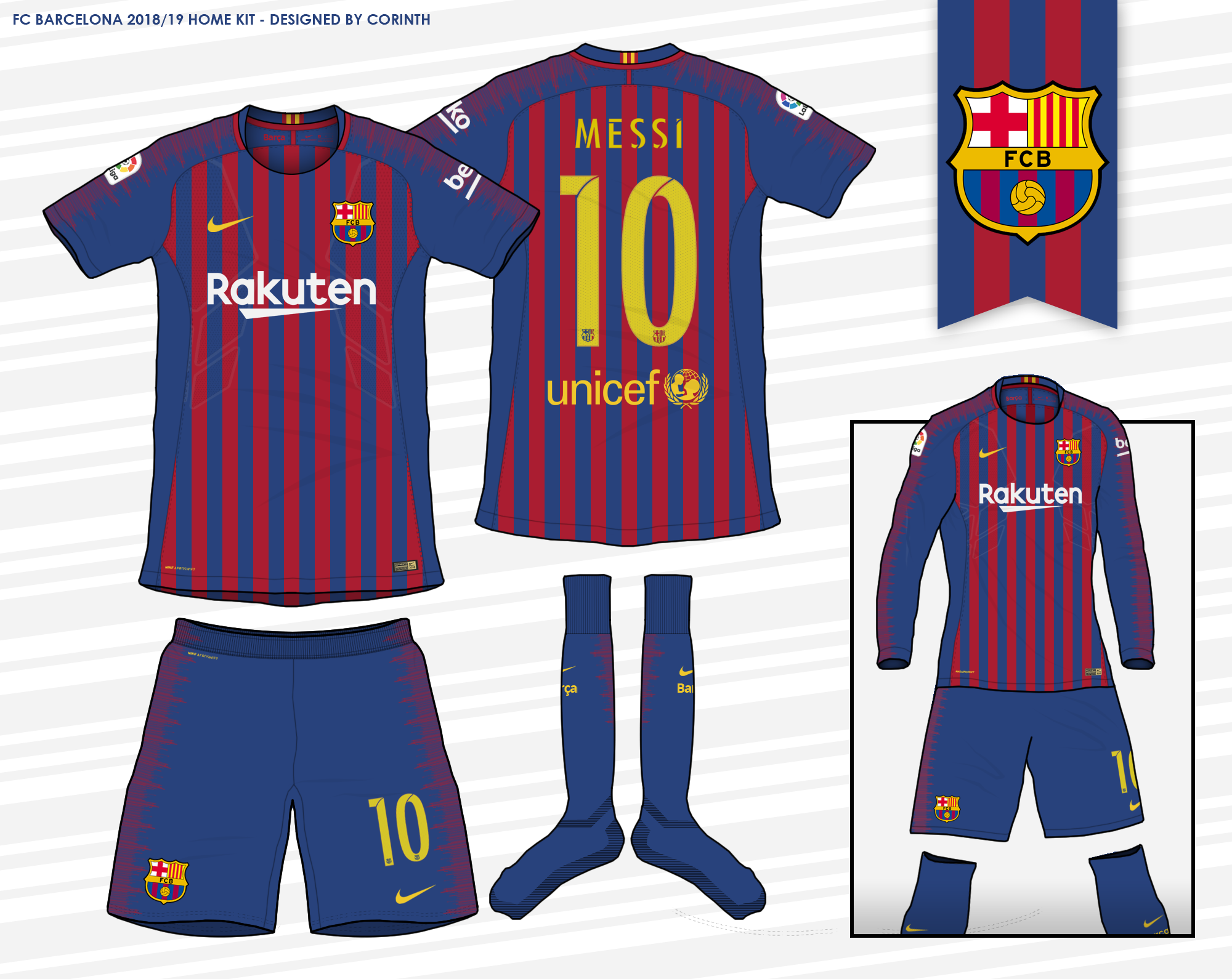new product 61c75 ece6d FC Barcelona - 2018 / 2019 Home Kit (According to leaks)