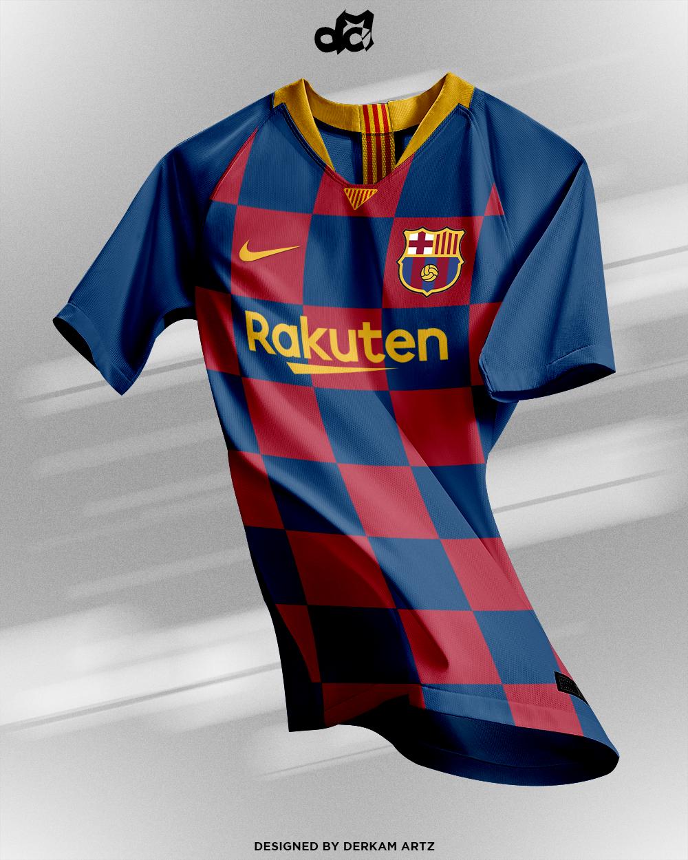 Fc Barcelona Home Kit New Logo 2019 20