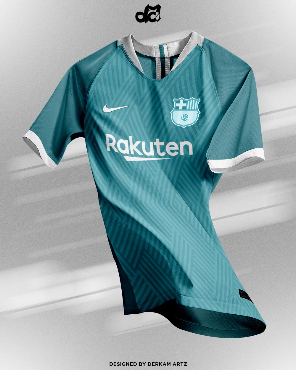 the latest a6660 abb11 FC Barcelona - Third Kit | New Logo (2019/20)