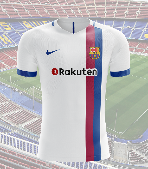 save off d7a7c 3fc4d FC Barcelona away shirt 2017-2018