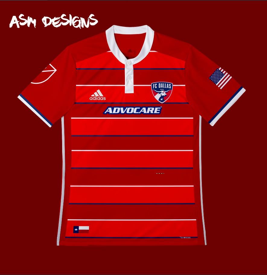 size 40 9a4ca e1e6e FC Dallas Adidas 2018 Home Kit