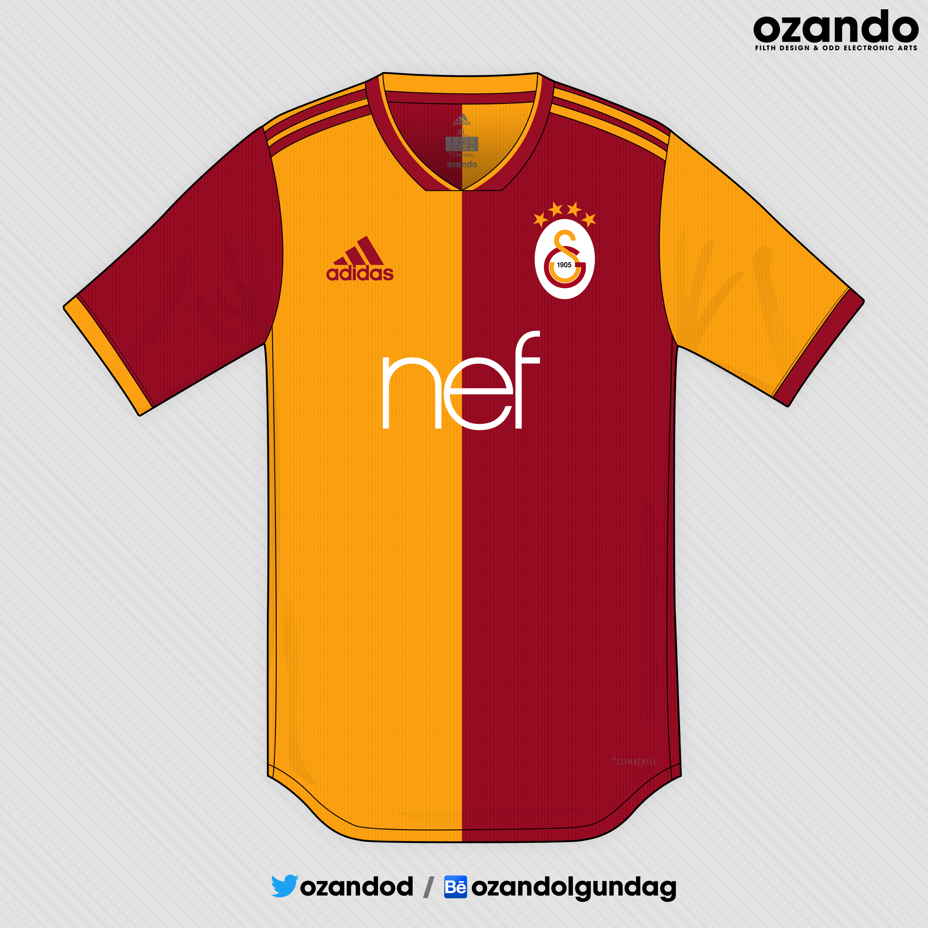 Official Adidas Galatasaray home football shirt from the
