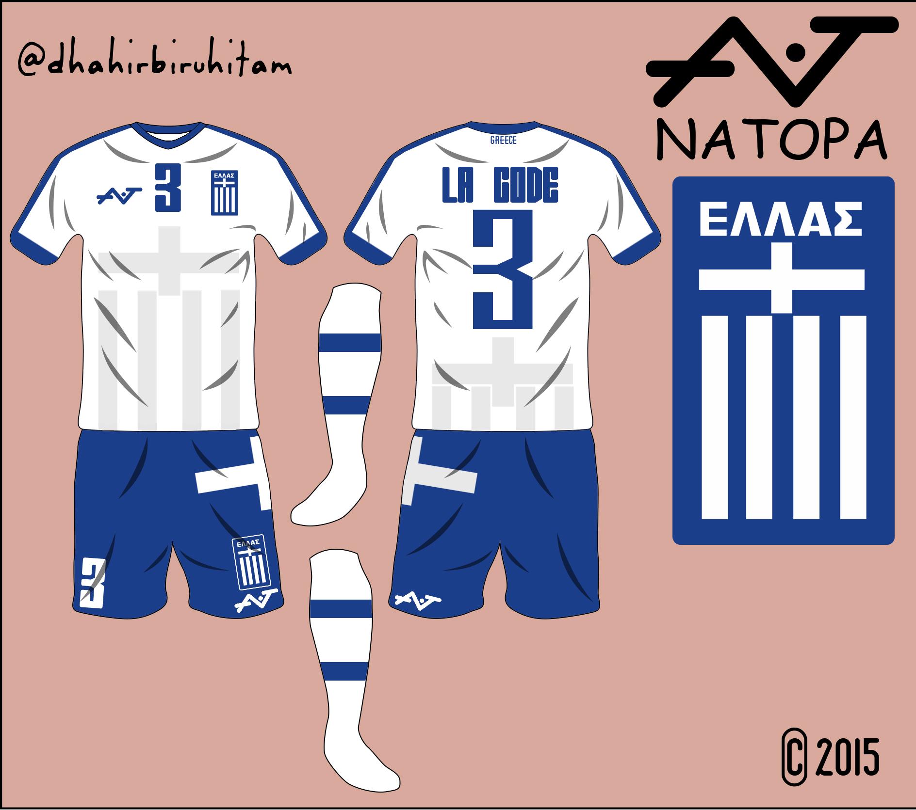 lowest price 14fb7 58ab2 Greece National Team Home Kit