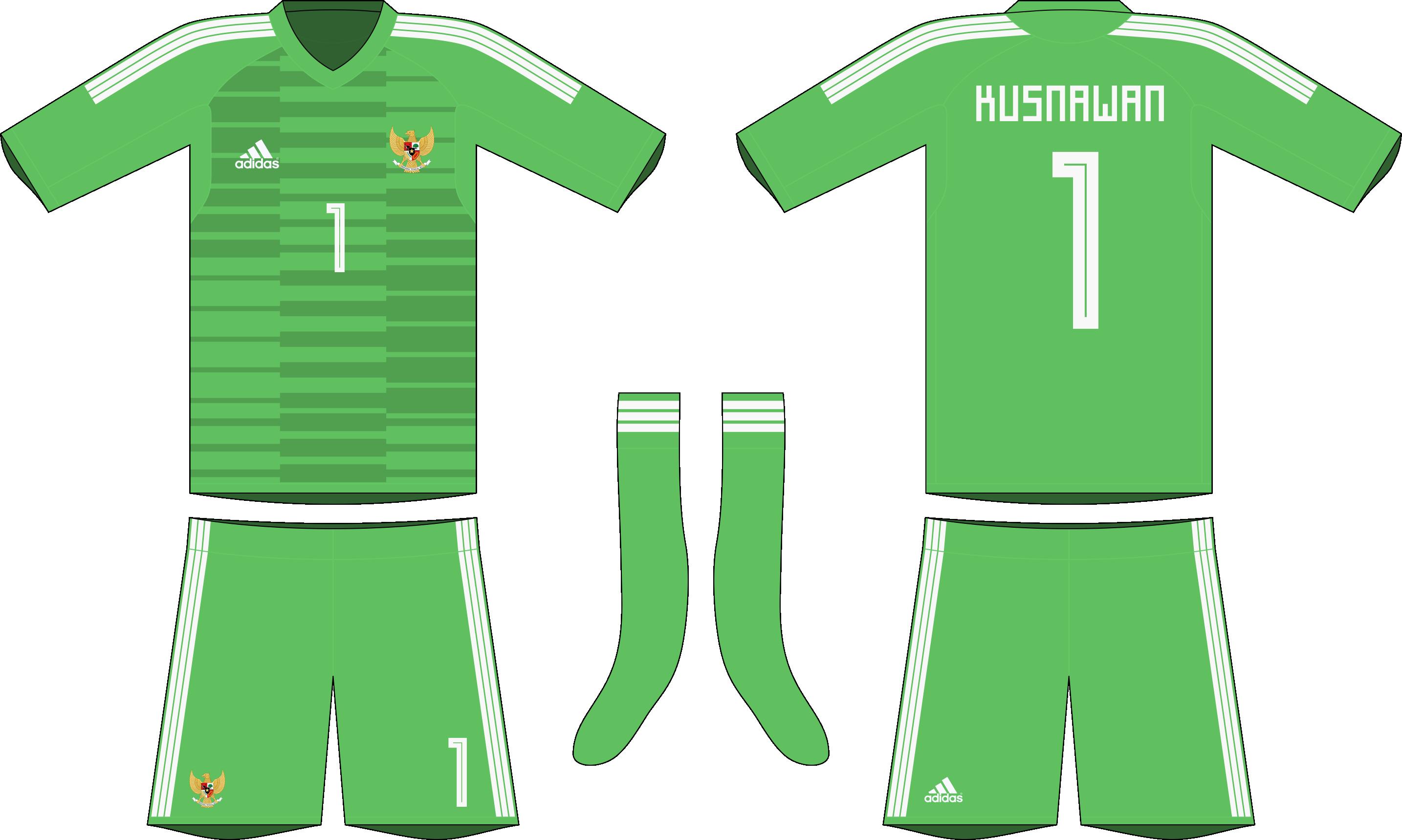 materiales de alta calidad código promocional compre los más vendidos Indonesia x Adidas 2019-20 goalkeeper kit #1