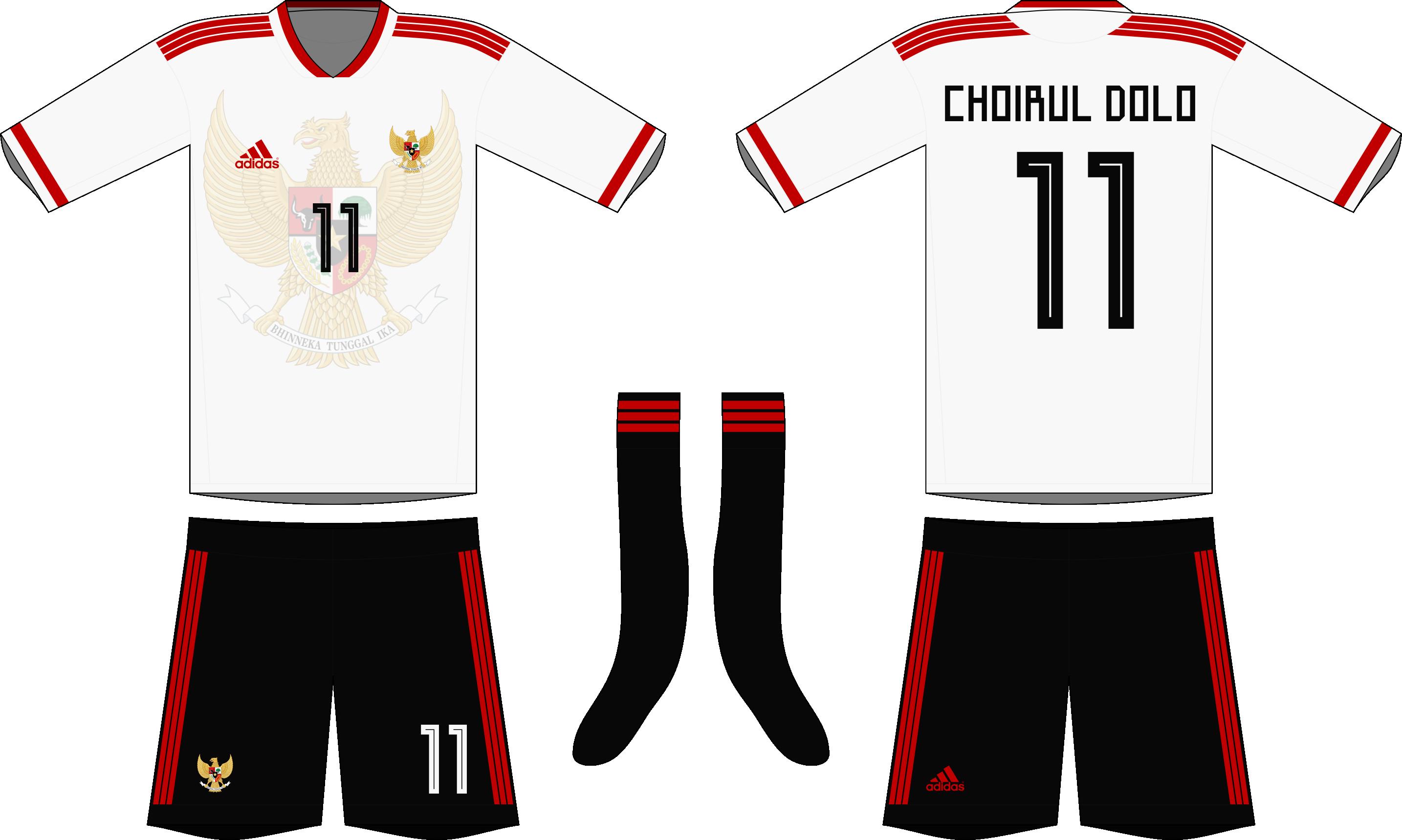 Indonesia X Adidas 2019 20 Away Kit
