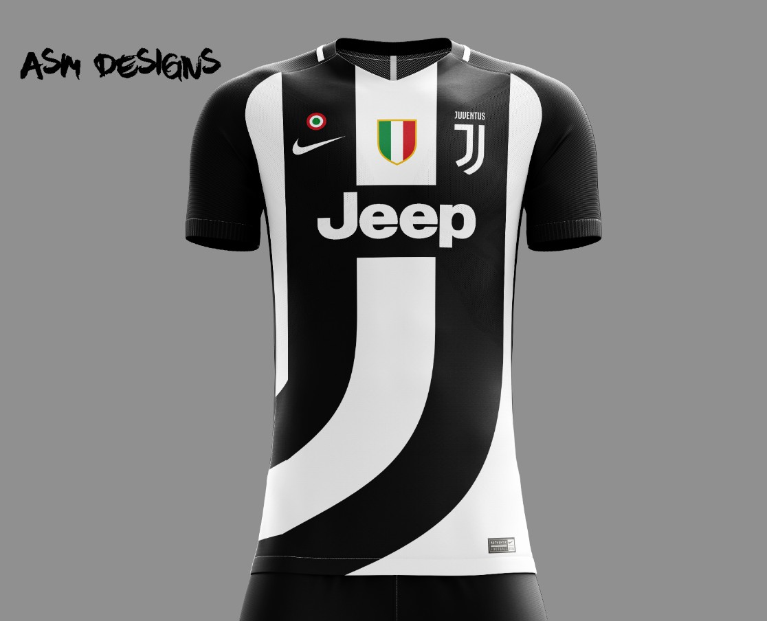 timeless design a8e51 775ea Juventus Nike 2018 Home Kit