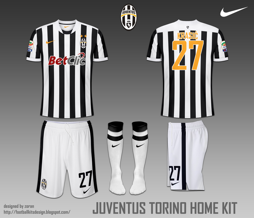 the best attitude c5083 8d778 Juventus FC Torino fantasy home and away