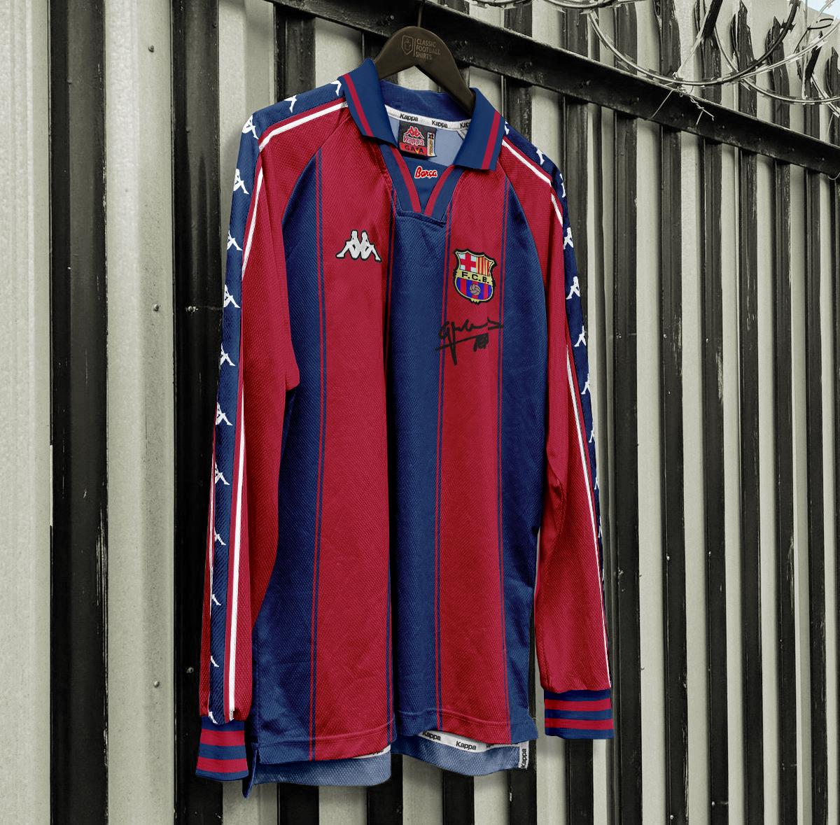size 40 000d5 36398 Kappa FC Barcelona 1997-99 Home jersey retroconcept