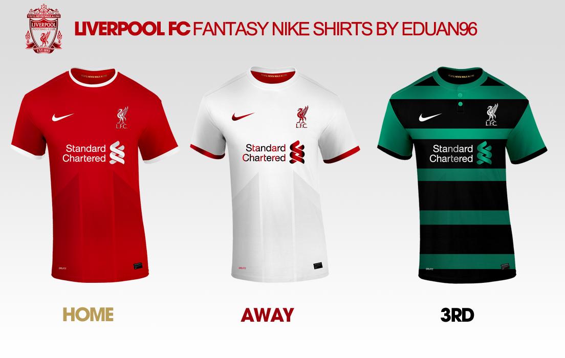6111bcad6 Liverpool FC Fantasy Nike Kits