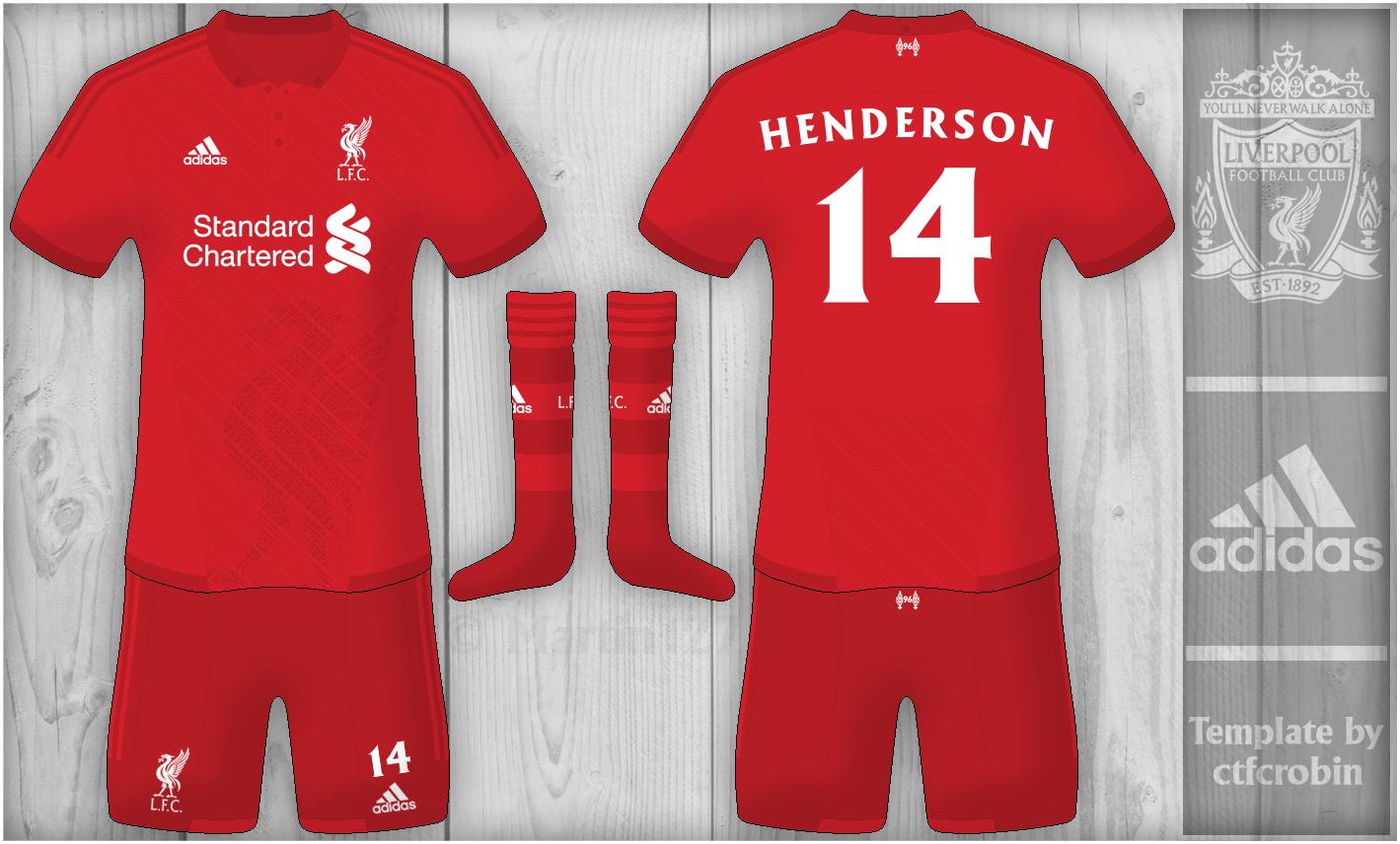 super popular 8f25e 1c1eb Liverpool Home - Adidas Kit