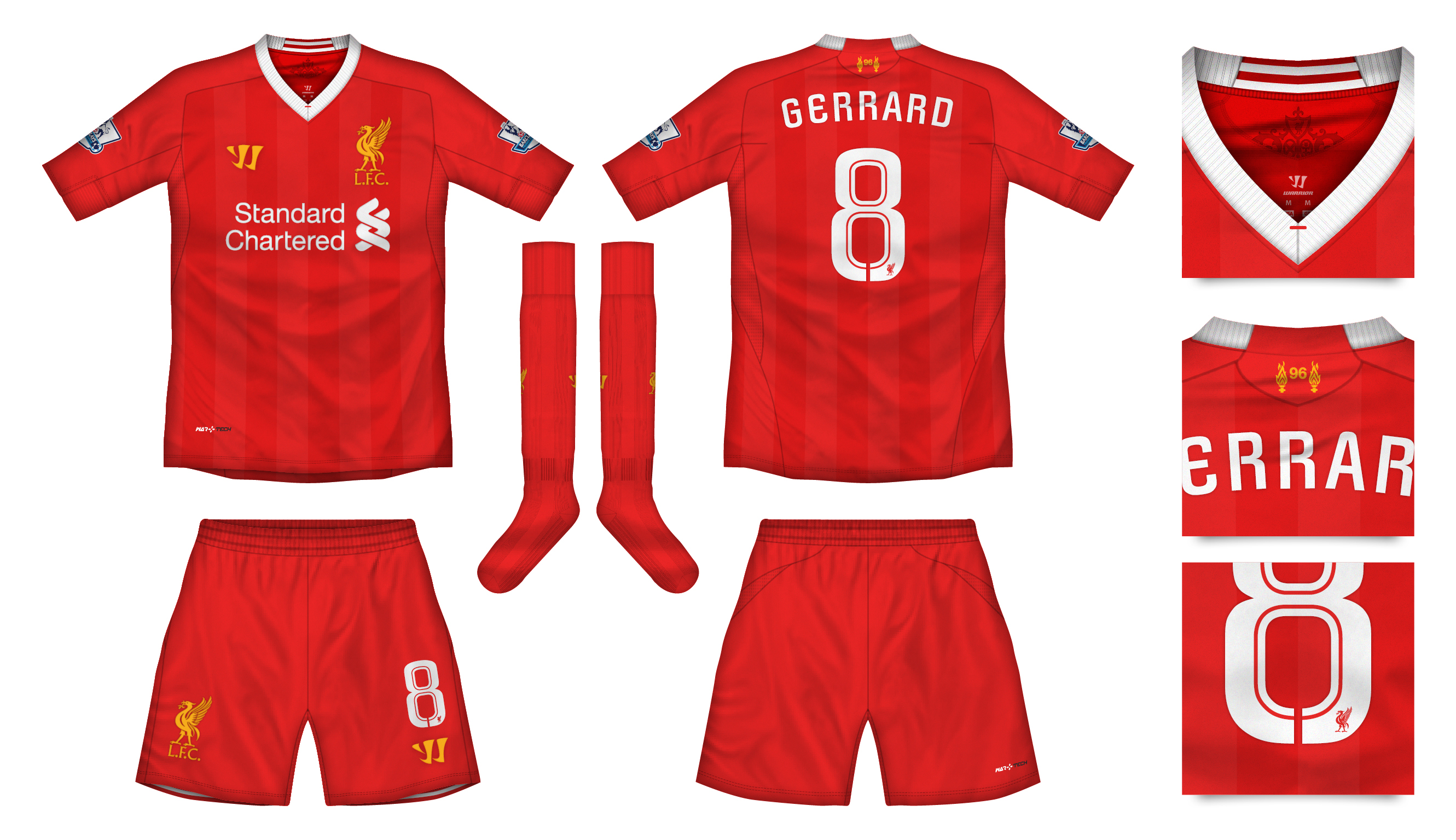 best loved f0cac 3adf3 Liverpool Home Kit