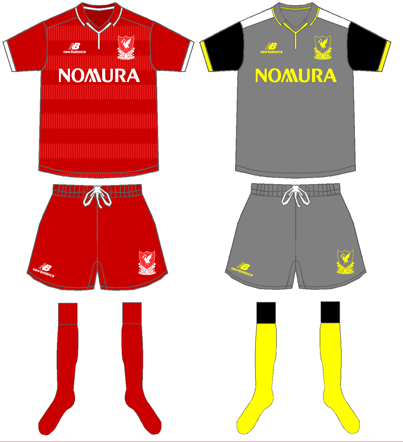 buy popular 3499e 28556 Liverpool Home and away kits 2015/16