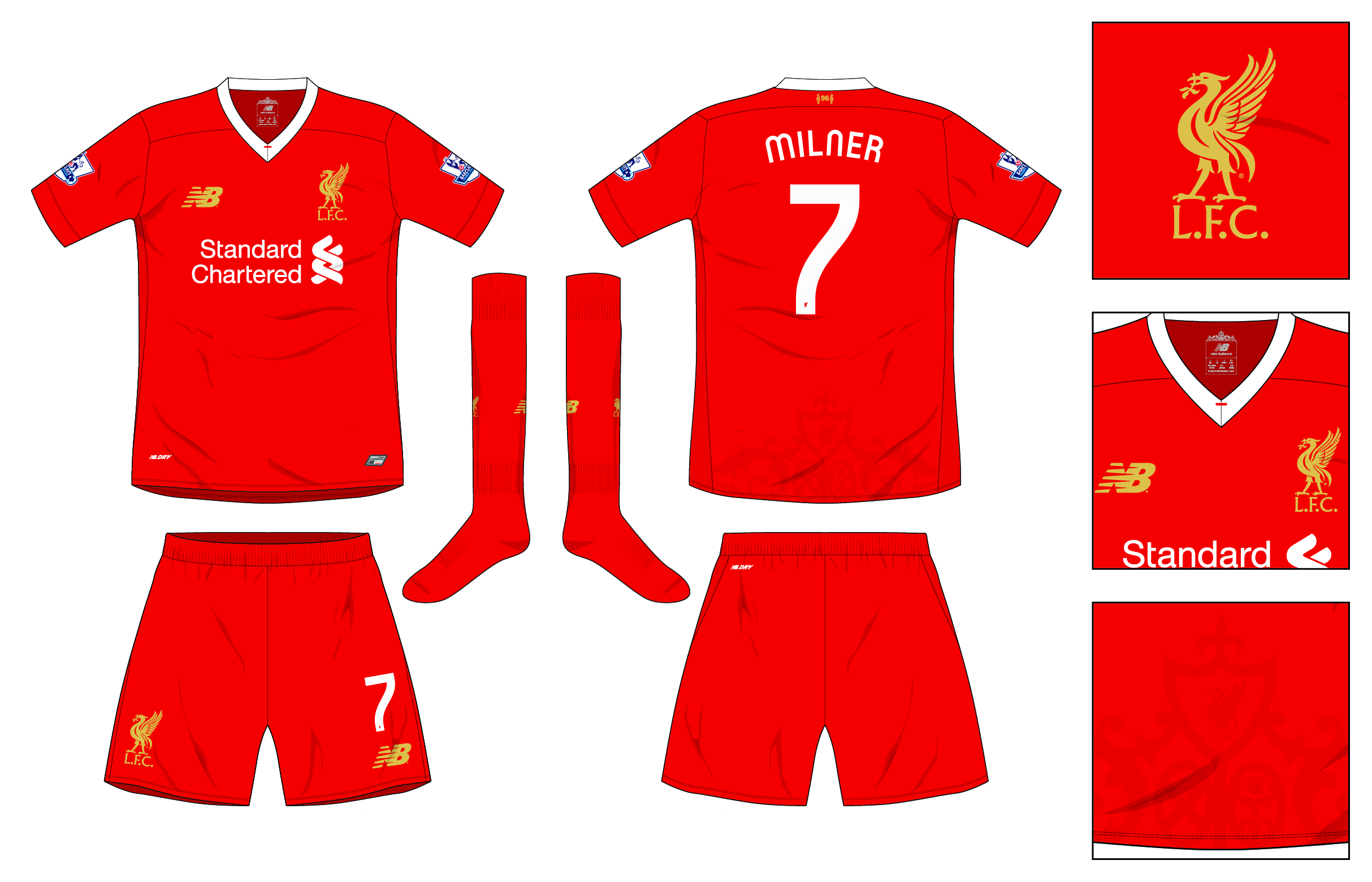info for 23437 5c52b Liverpool Home kit 2016-17