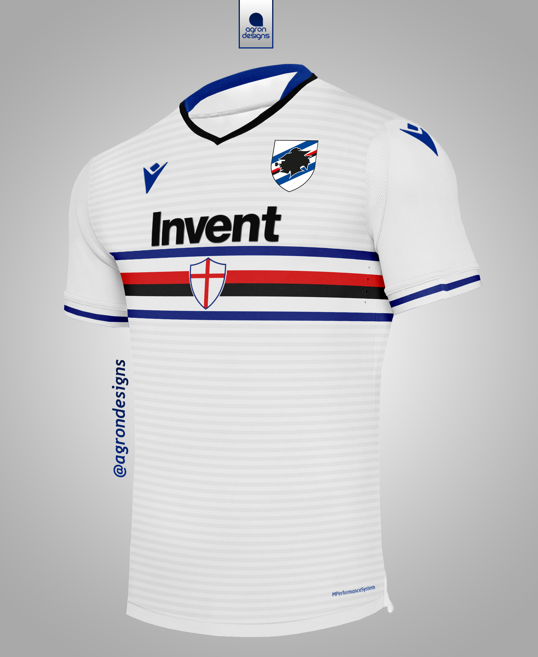 Macron Sampdoria 2020 21 Away Kit Concept
