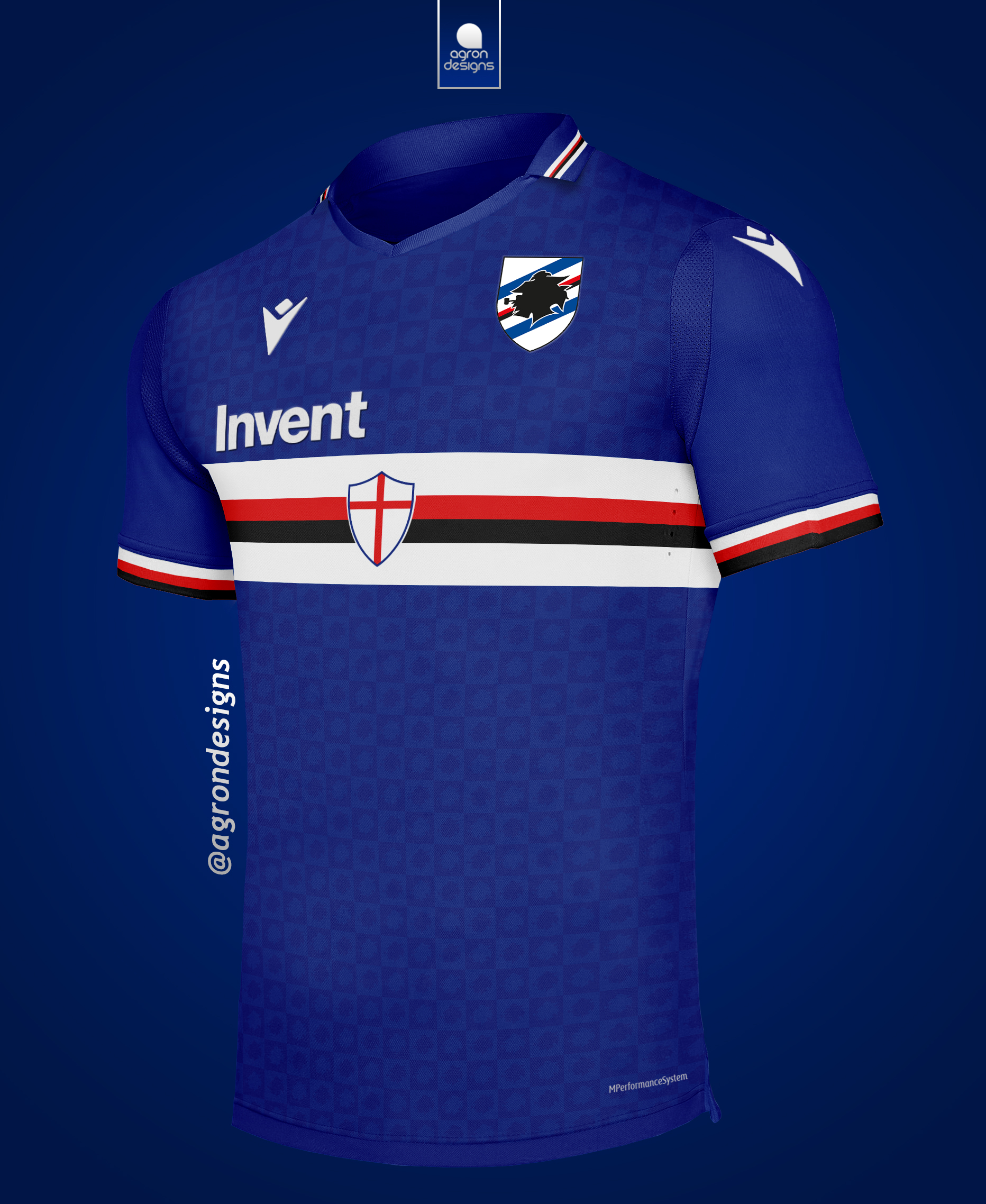 Macron Sampdoria 2020 21 Home Kit Concept