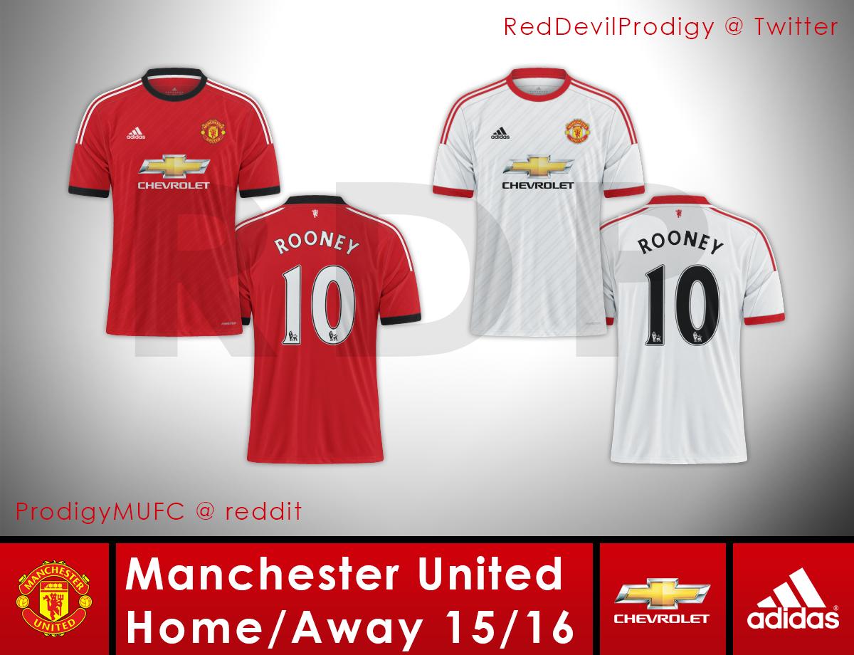 separation shoes e4658 e04d1 Manchester United Adidas Home/Away 15-16 Concept
