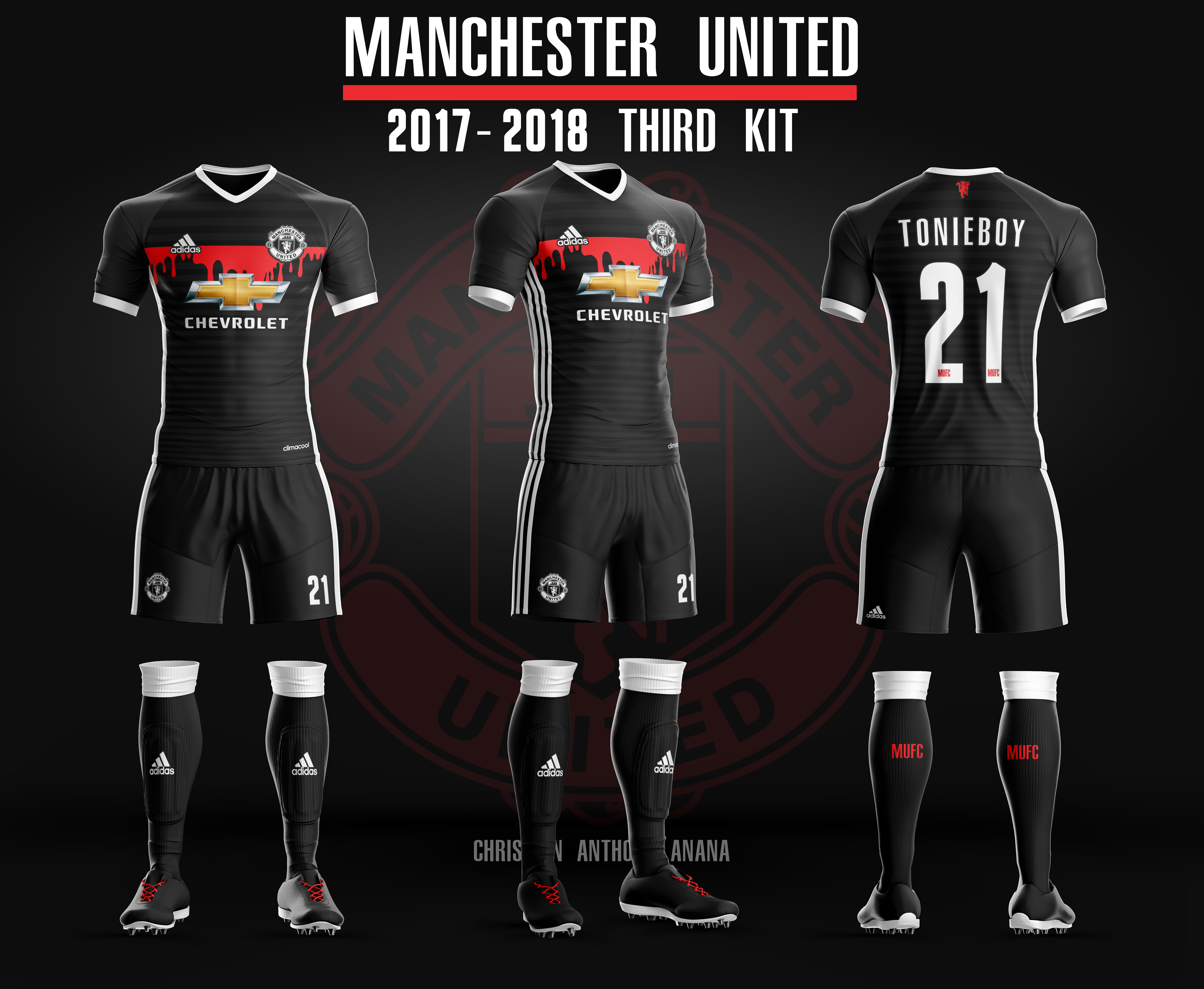 check out e9547 7dabd Manchester United Alt Third Kit 17-18