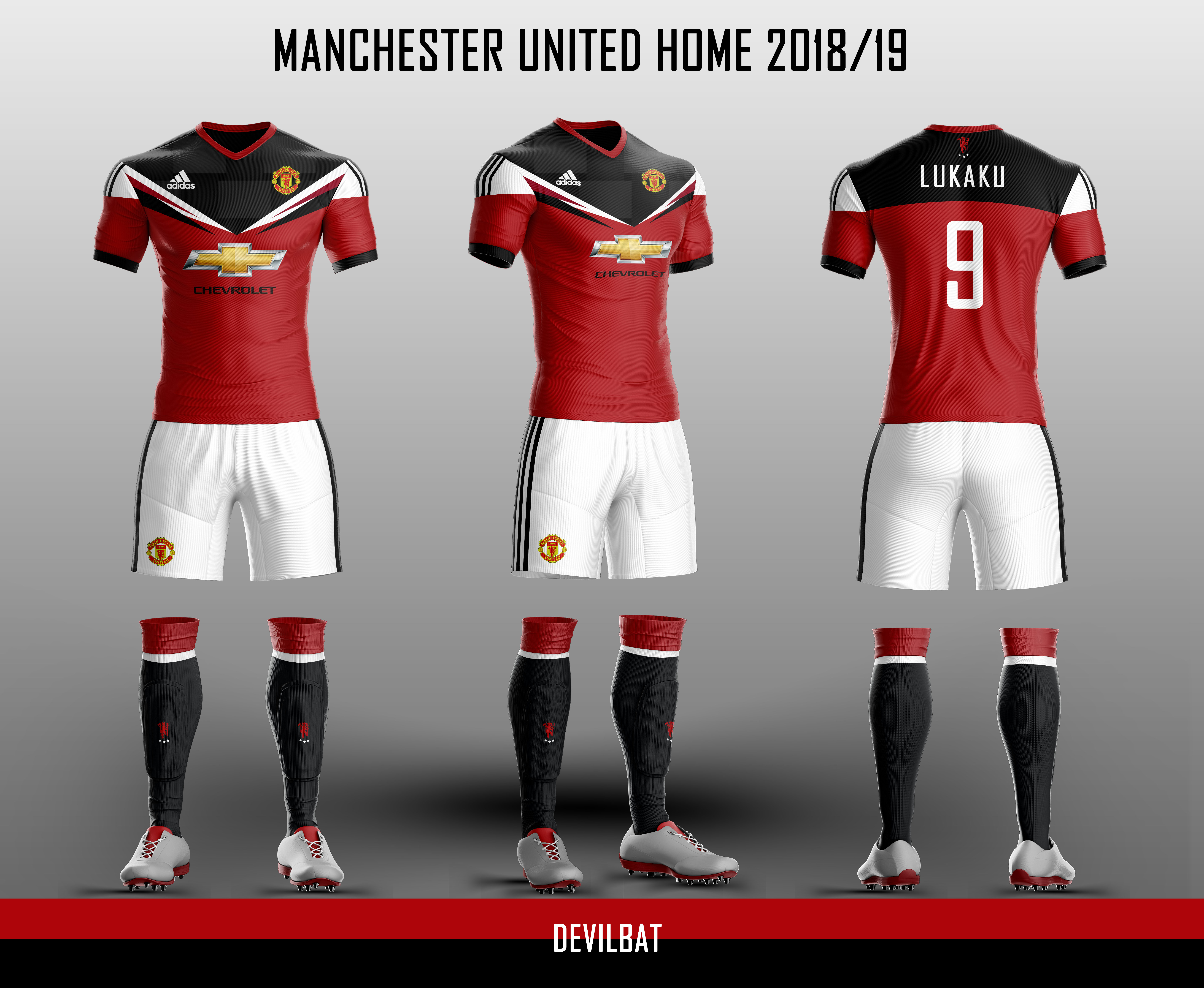 premium selection db3b7 bd54e Manchester United Home 2018/19