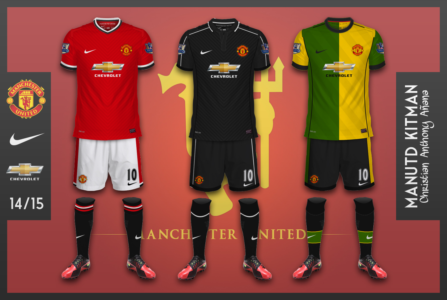 timeless design 25ae3 5d1ee Manchester United Kits - Chevrolet