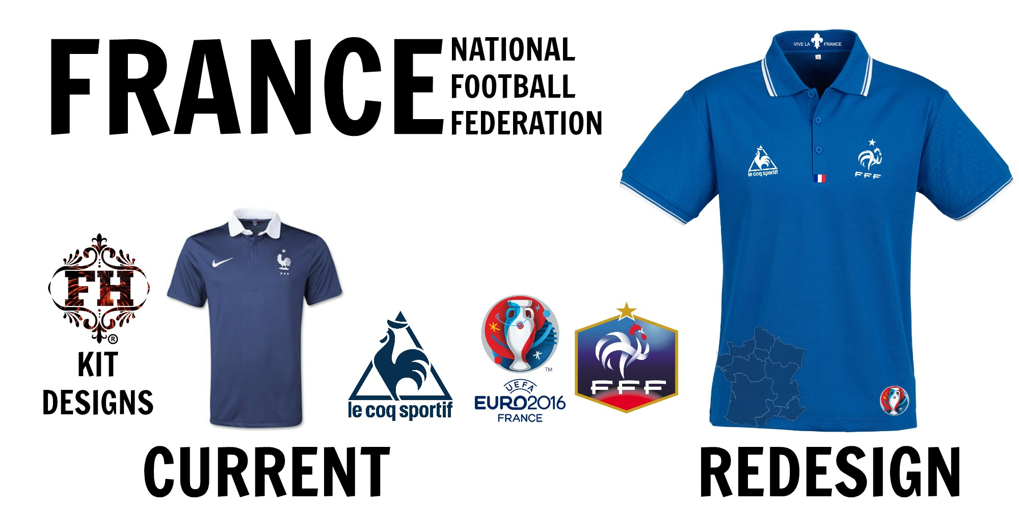 online retailer f1e8a 9a9d5 New French National Kit By Le Coq Sportif (for 2016)
