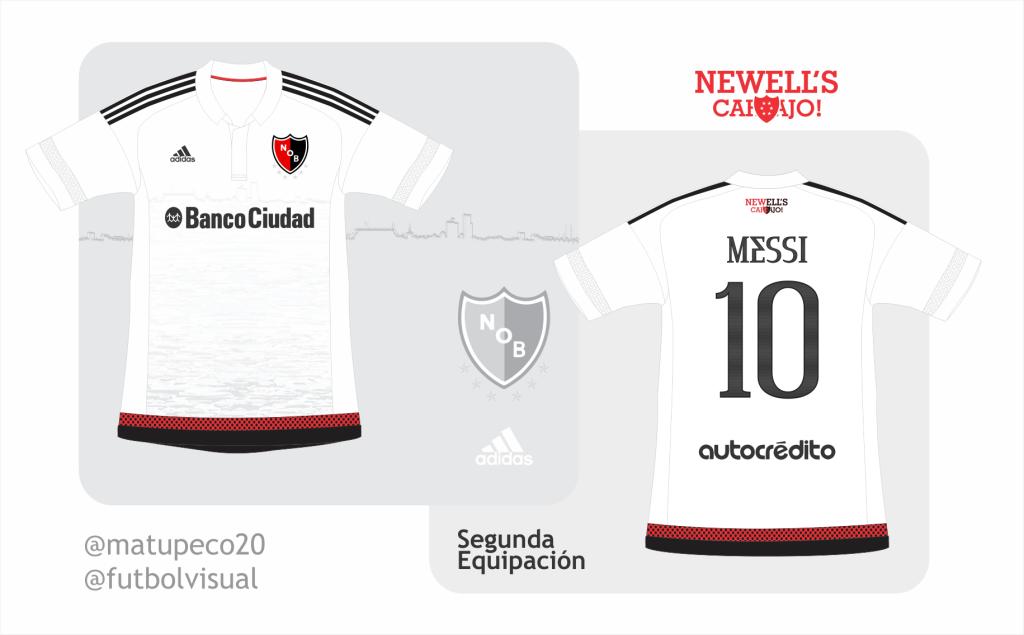 sale retailer a0cba 000b5 Newell's Old Boys away kit Adidas + Messi