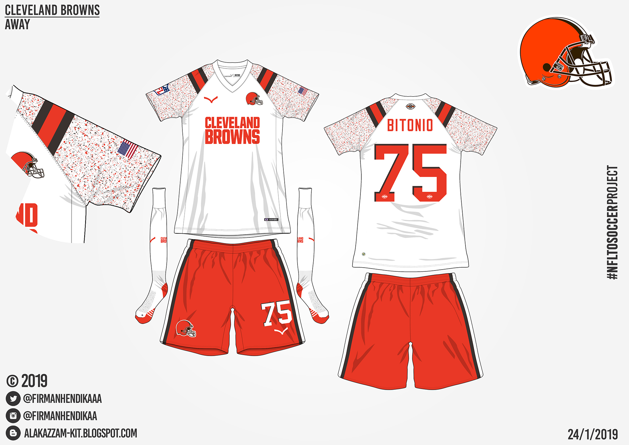 quality design e2c88 b11a2 NFLtoSoccerProject - Cleveland Browns (Away)