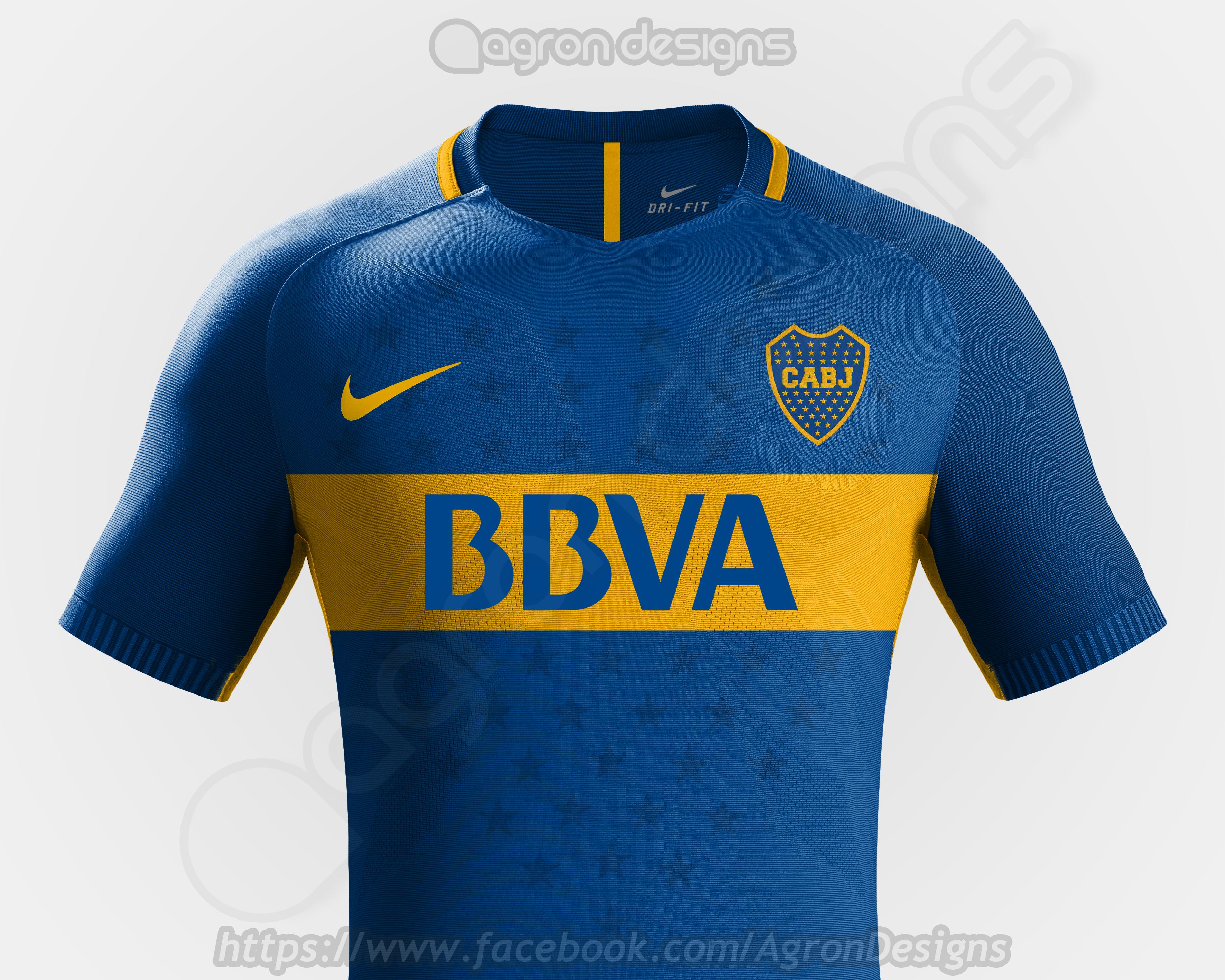 watch e6e7f 779c8 Nike Boca Juniors Home Kit Concept
