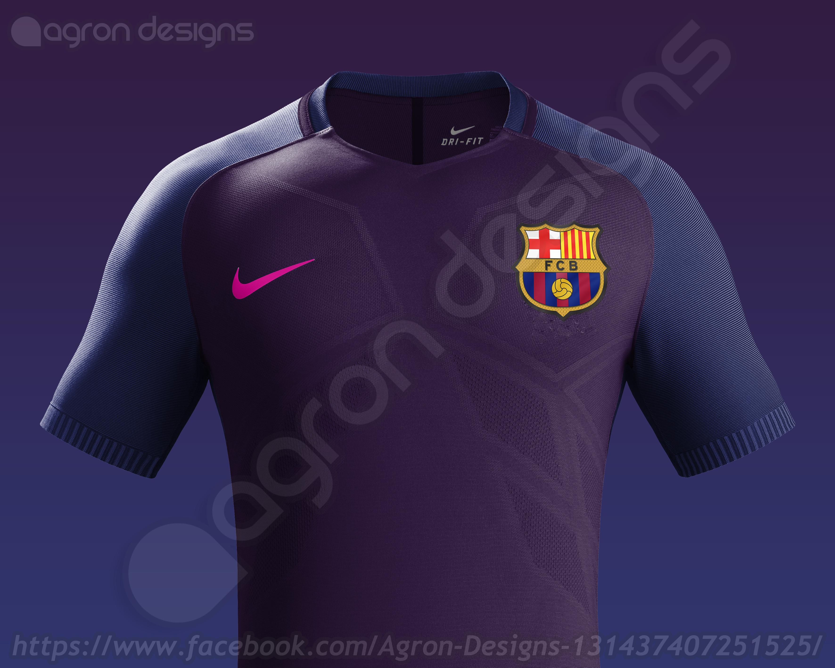 new arrivals 7682d 1d72e Nike Fc Barcelona Away Kit 2016-17 based on leaked images