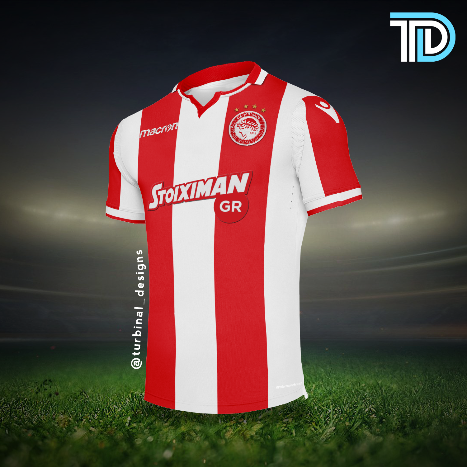 Olympiacos Macron Home Kit Concept