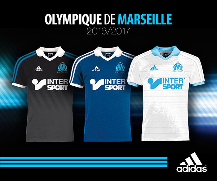 purchase cheap 65a16 db593 OM - Olympique de Marseille - Kit 2016-2017